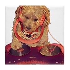 DJ Dog E Dog Tile Coaster