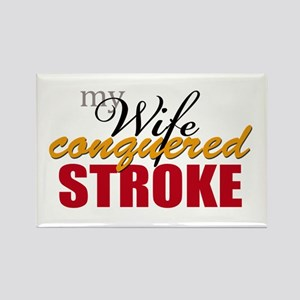 My Wife Conquered Stroke Rectangle Magnet
