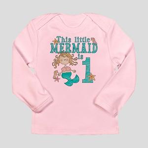 Mermaid First Birthday Long Sleeve Infant T Shirt