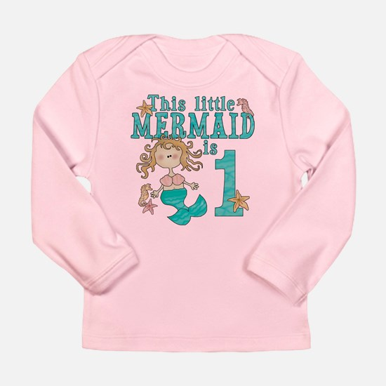 Mermaid First Birthday Long Sleeve Infant T-Shirt