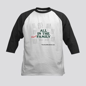 All in the Fact Family Kids Baseball Jersey