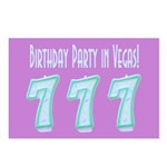 Birthday Party in Vegas Postcards (Package of 8)