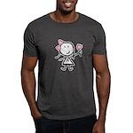 Girl & Pink Ribbon Dark T-Shirt