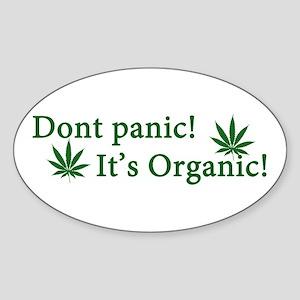 Dont Panic! Sticker (Oval)