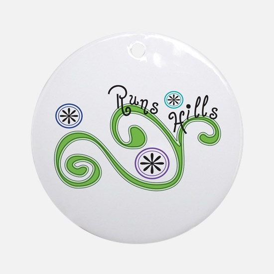 Runs Hills Ornament (Round)