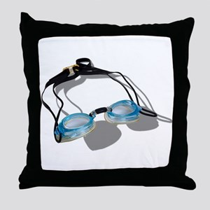 Swimming Goggles Throw Pillow