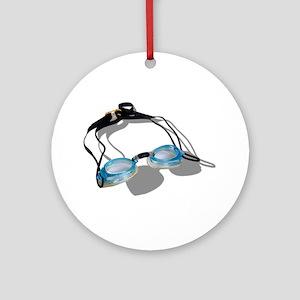 Swimming Goggles Ornament (Round)