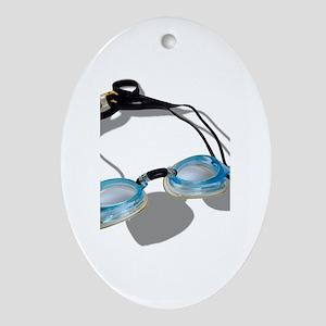 Swimming Goggles Ornament (Oval)