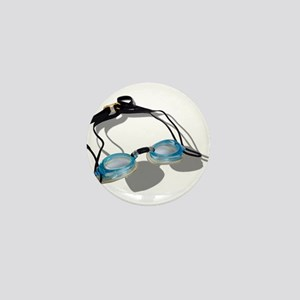 Swimming Goggles Mini Button