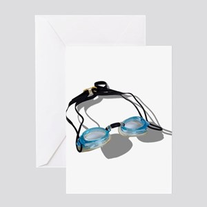 Swimming Goggles Greeting Card