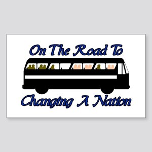 Changing Nation Rectangle Sticker