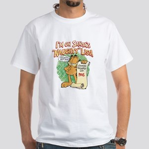 """Santa's Naughty List"" White T-Shirt"
