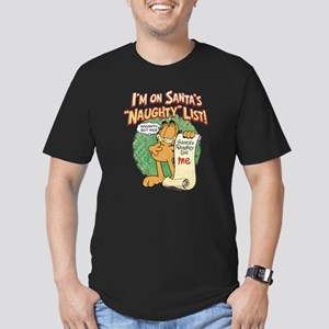 """Santa's Naughty List"" Men's Fitted T-Shirt (dark)"