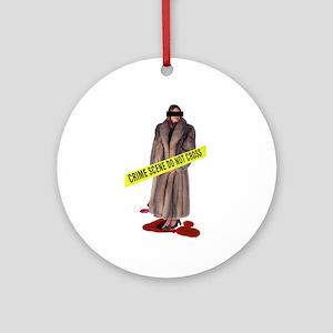 Crime Scene Ornament (Round)