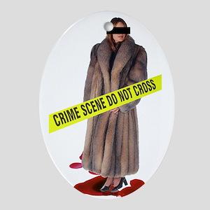 Crime Scene Ornament (Oval)
