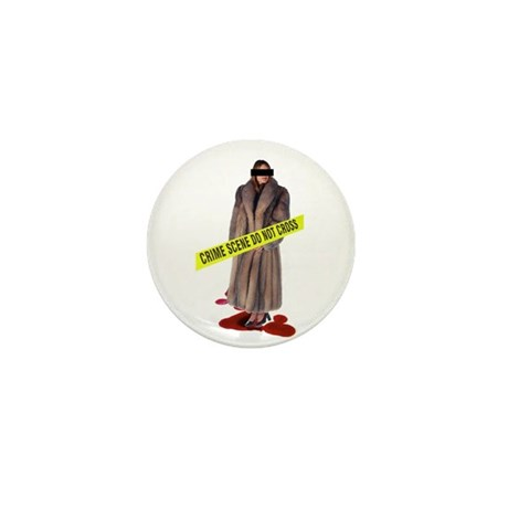 Crime Scene Mini Button