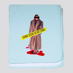 Crime Scene baby blanket