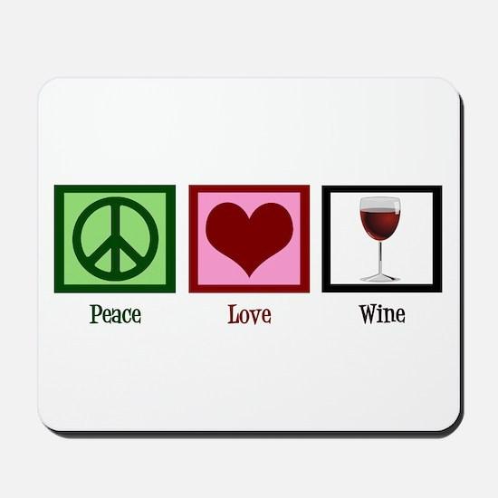 Peace Love Wine Mousepad