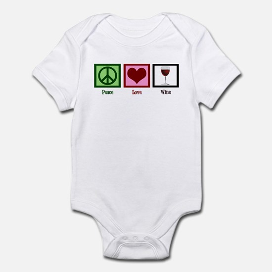 Peace Love Wine Infant Bodysuit