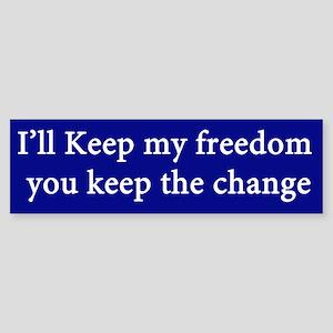 Ill Keep my Freedom Sticker (Bumper)