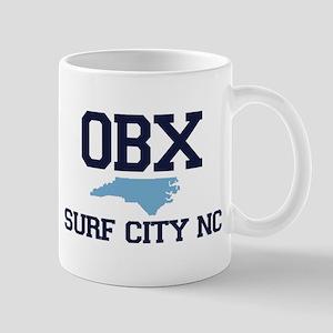 Surf City NC - Map Design Mug