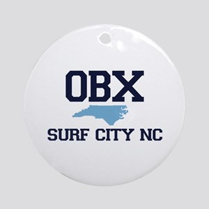 Surf City NC - Map Design Ornament (Round)