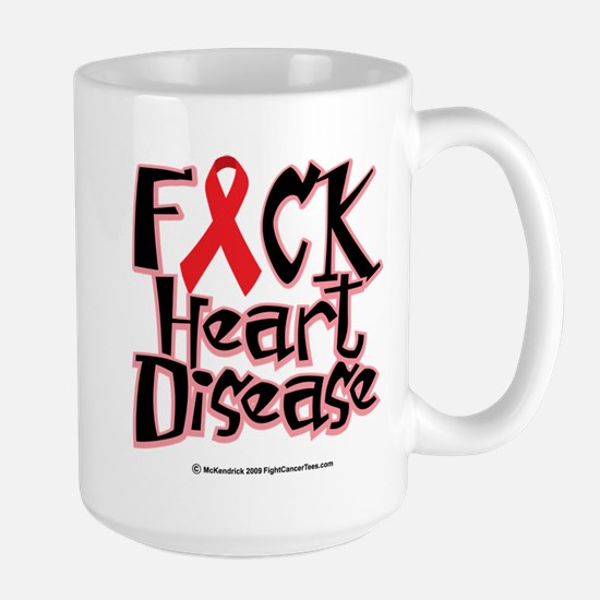 Fuck Heart Disease Large Mug
