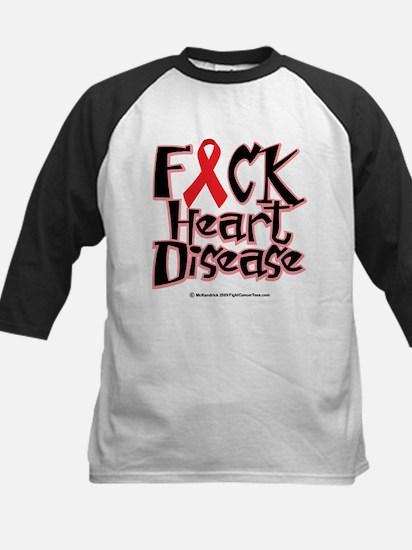 Fuck Heart Disease Kids Baseball Jersey