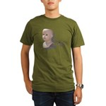 Creepy Doll Head Organic Men's T-Shirt (dark)