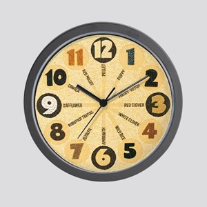 Crop art clock 8.5 inches diameter