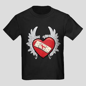 Heart Disease New Wings Kids Dark T-Shirt