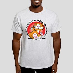 Heart Disease Cat Light T-Shirt