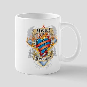Heart Disease Cross and Heart Mug