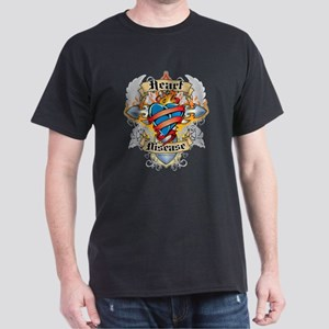 Heart Disease Cross and Heart Dark T-Shirt