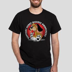Heart Disease Dog Dark T-Shirt