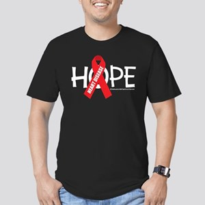Heart Disease Hope Men's Fitted T-Shirt (dark)