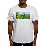 Golfing Frogs Ash Grey T-Shirt