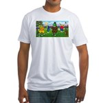 Golfing Frogs Fitted T-Shirt