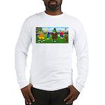 Golfing Frogs Long Sleeve T-Shirt