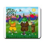 Golfing Frogs Mousepad