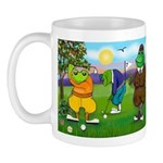 Golfing Frogs Mug