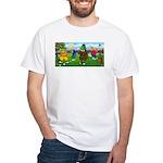 Golfing Frogs White T-Shirt