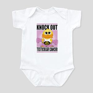 Knock Out Testicular Cancer Infant Bodysuit