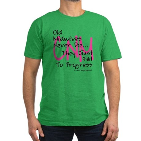Old Midwives Pink Men's Fitted T-Shirt (dark)