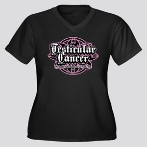 Testicular Cancer Tribal Women's Plus Size V-Neck