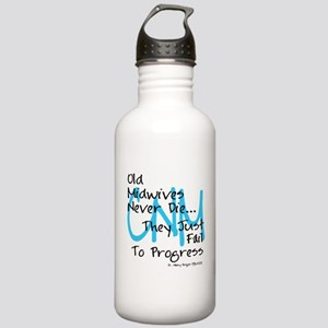Old Midwives Blue Stainless Water Bottle 1.0L