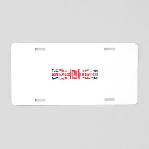 Skelton Aluminum License Plate