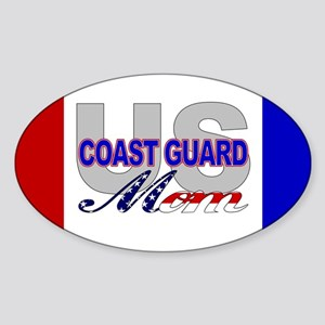 USCG Mom Oval Sticker