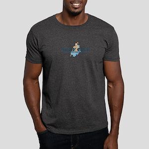 Surf City NC - Seashells Design Dark T-Shirt