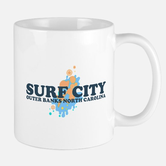 Surf City NC - Seashells Design Mug
